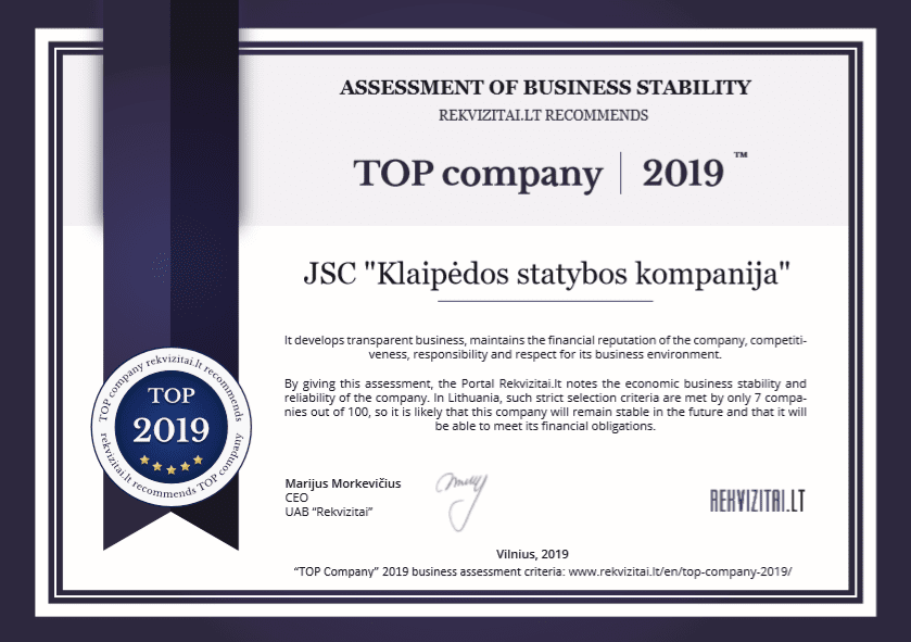 assessment of business stability 2019 klaipeda